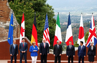 Trump Ends Overseas Charm Offensive In Italy With G7 Meeting After Lecturing World Leaders At NATO Summit – As He Vows North Korean Aggression 'Will Be Solved, You Can Bet On That'