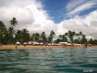 Praia de Taipú de Fora na Península de Maraú