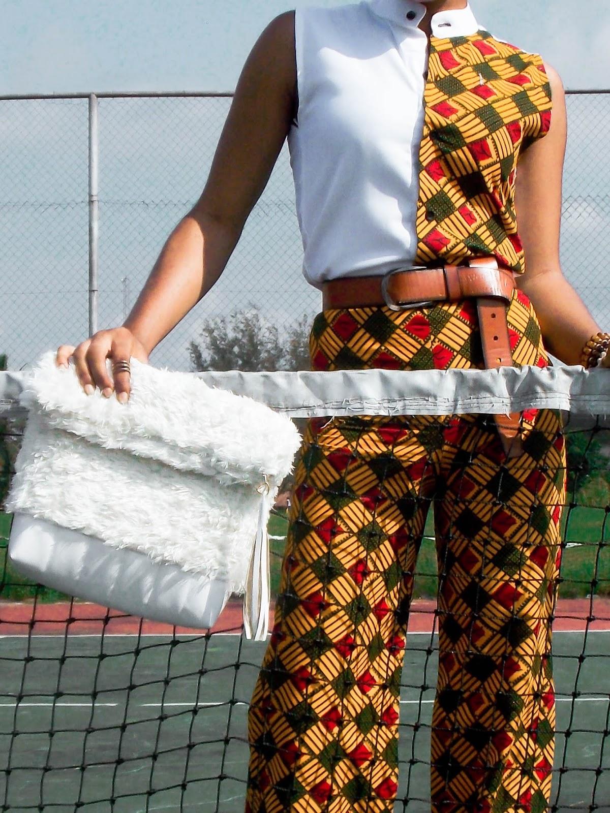 unique ankara style wide leg pant, stylish ways to tie a belt
