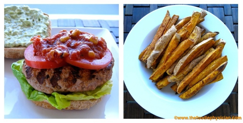 Dining With The Doc Salsa Turkey Burgers With Avocado Crema And