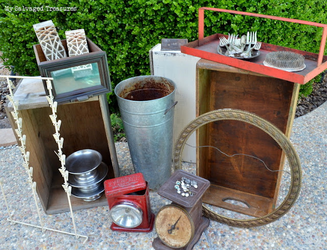yard sale and flea market junk