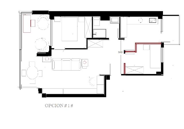 apartamento pequeño plano distribucion www.lolatorgadecoracion.es