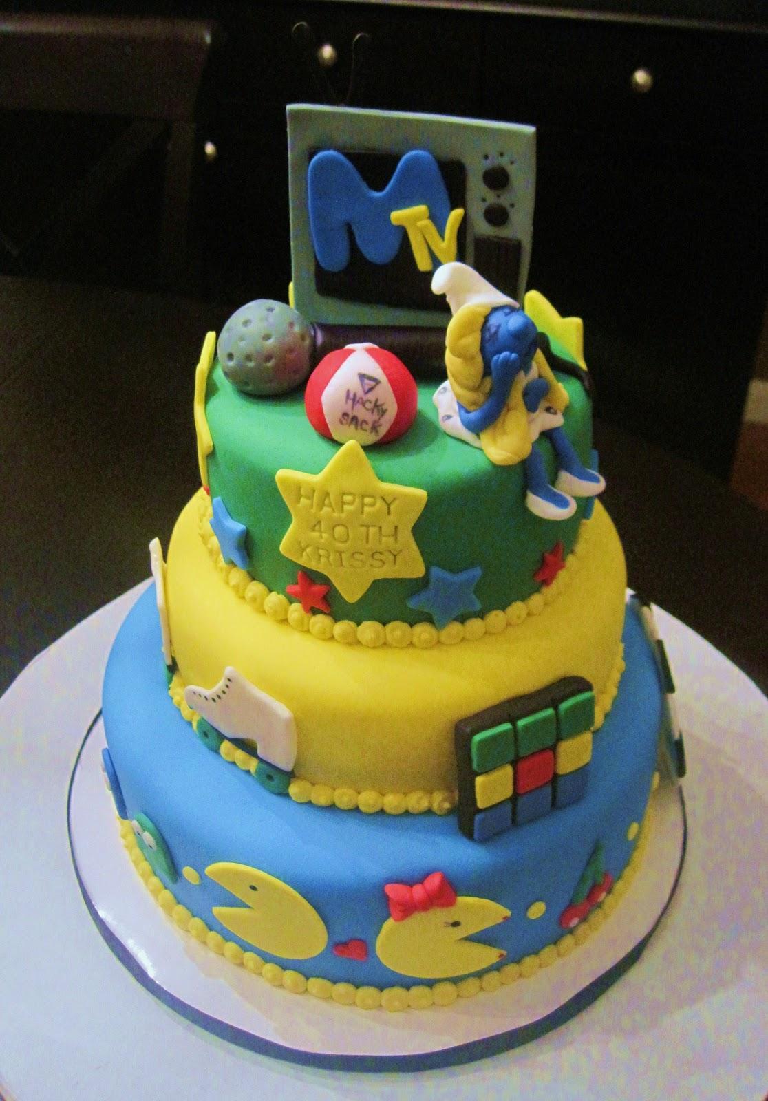 Creative Cakes By Lynn 80 S Themed Birthday Cake