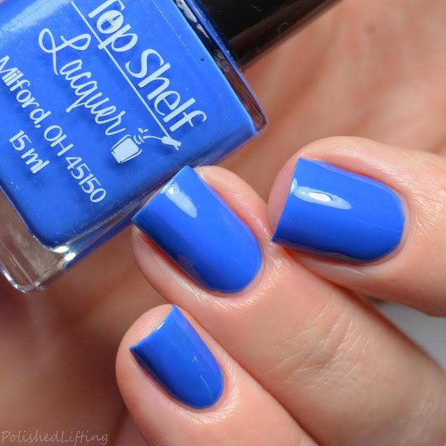 blue creme nail polish
