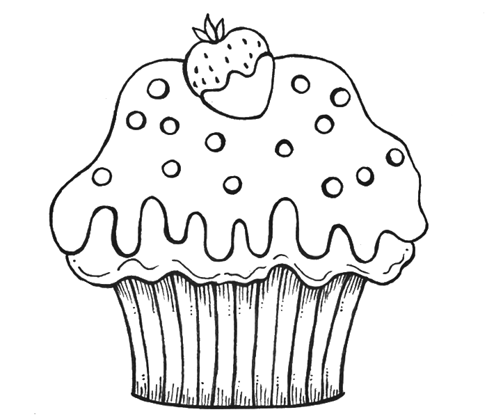 Birthday Cake Template To Color