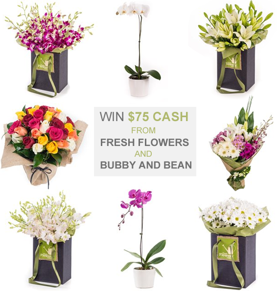 Win $75 CASH from Fresh Flowers and Bubby & Bean!