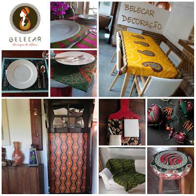 decoração de interior com tecido africano estilo boho style e decoração rústica