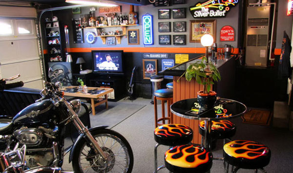 motorcycle garage pictures  Efficacious Cool Motorcycle Garage Ideas for Enthusiast Bike Lovers