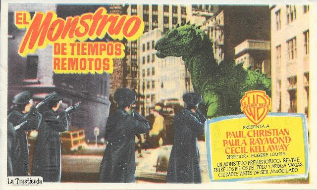 El Monstruo de Tiempos Remotos - Programa de Cine - Paul Christian - Paula Raymond - Lee Van Cleef