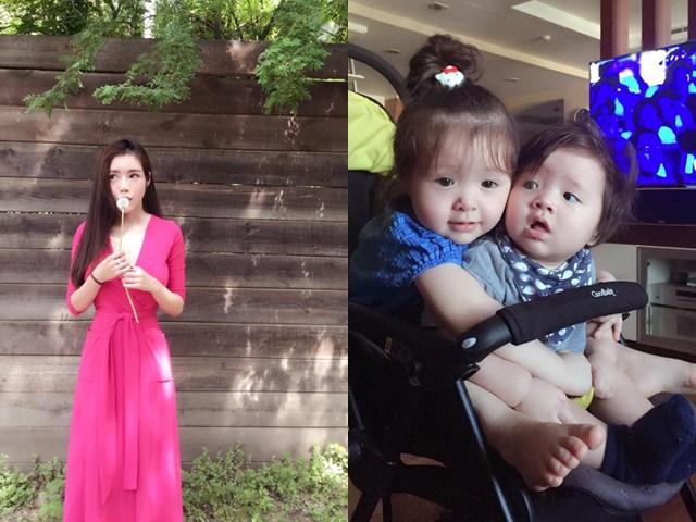 """Mẹ đẹp - con xinh nhà Elly Trần liên tục """"gây bão"""" mạng"""
