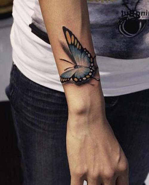 kelebek erkek bilek dövmeleri butterfly wrist tattoos for men
