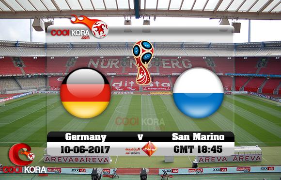 مشاهدة مباراة ألمانيا وسان مارينو اليوم 10-6-2017 تصفيات كأس العالم