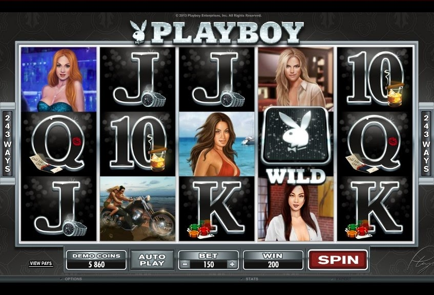 Playboy Video Slot Screen