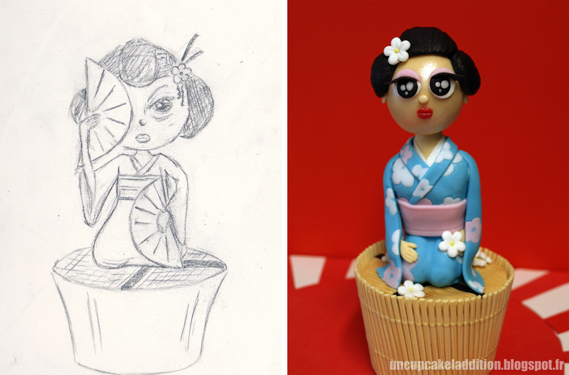 Expo Tarta 2013 :  Cupcakes Japonais - La Geisha