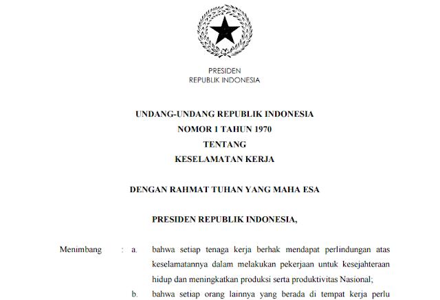 UU No 1 Tahun 1970