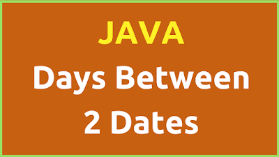 Days Difference Between Two Dates In Java