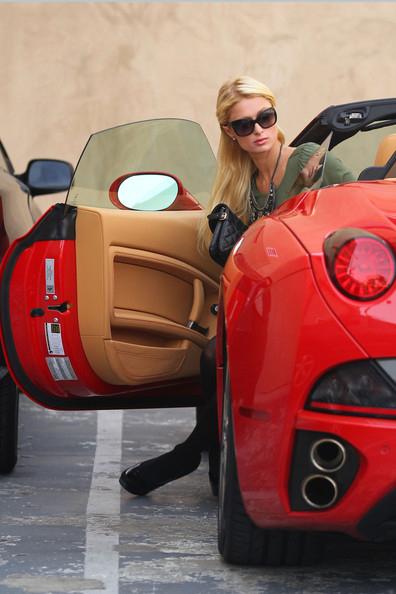 Top Car Girl Paris Hilton With Ferrari California