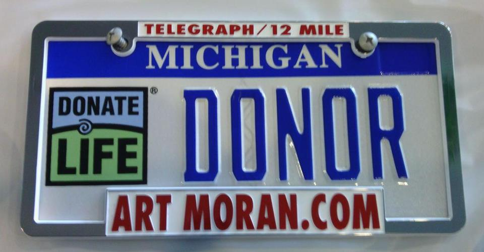 Art Moran Buick Gmc Mitsubishi In Southfield Has Joined With Donate Life Michigan To Promote Donation And The License Plate