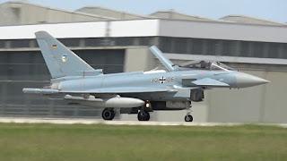 Jet Eurofighter Typhoon Luftwaffe (AU Jerman)