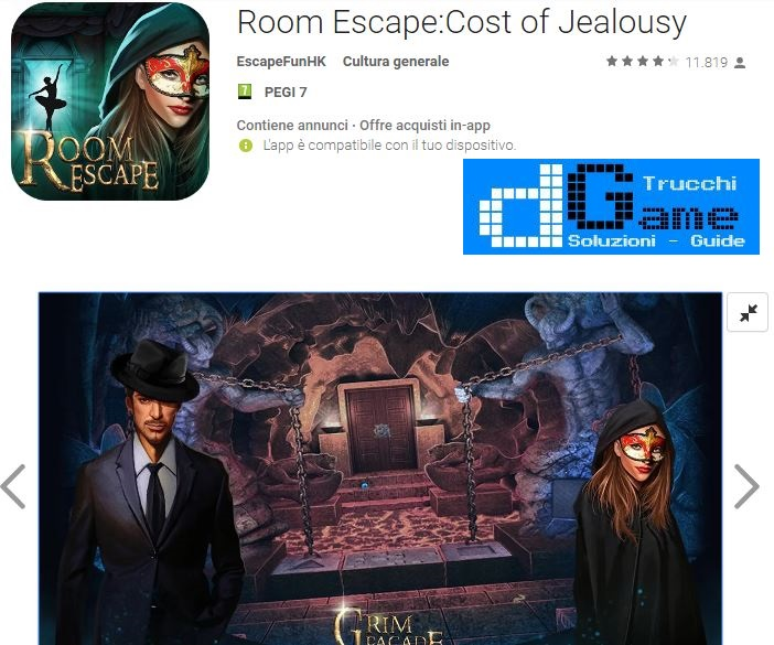 Soluzioni Room Escape:Cost of Jealousy Capitolo 1 | Trucchi e Walkthrough level