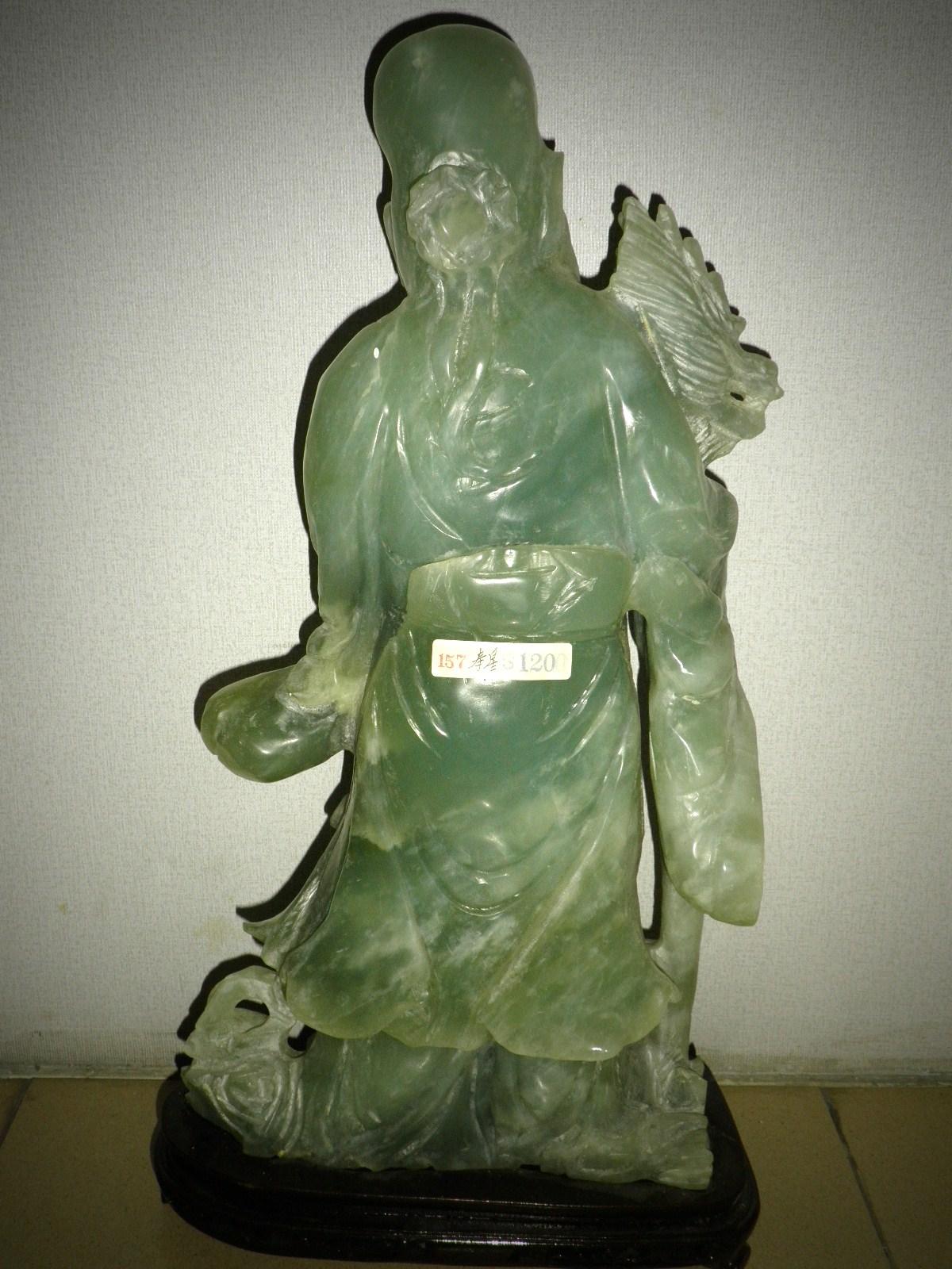 Vintage Is The New Black Longevity God Jade Statue