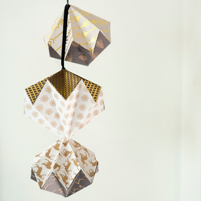 Origami Paper Folded Christmas Decorations by welaughindoors
