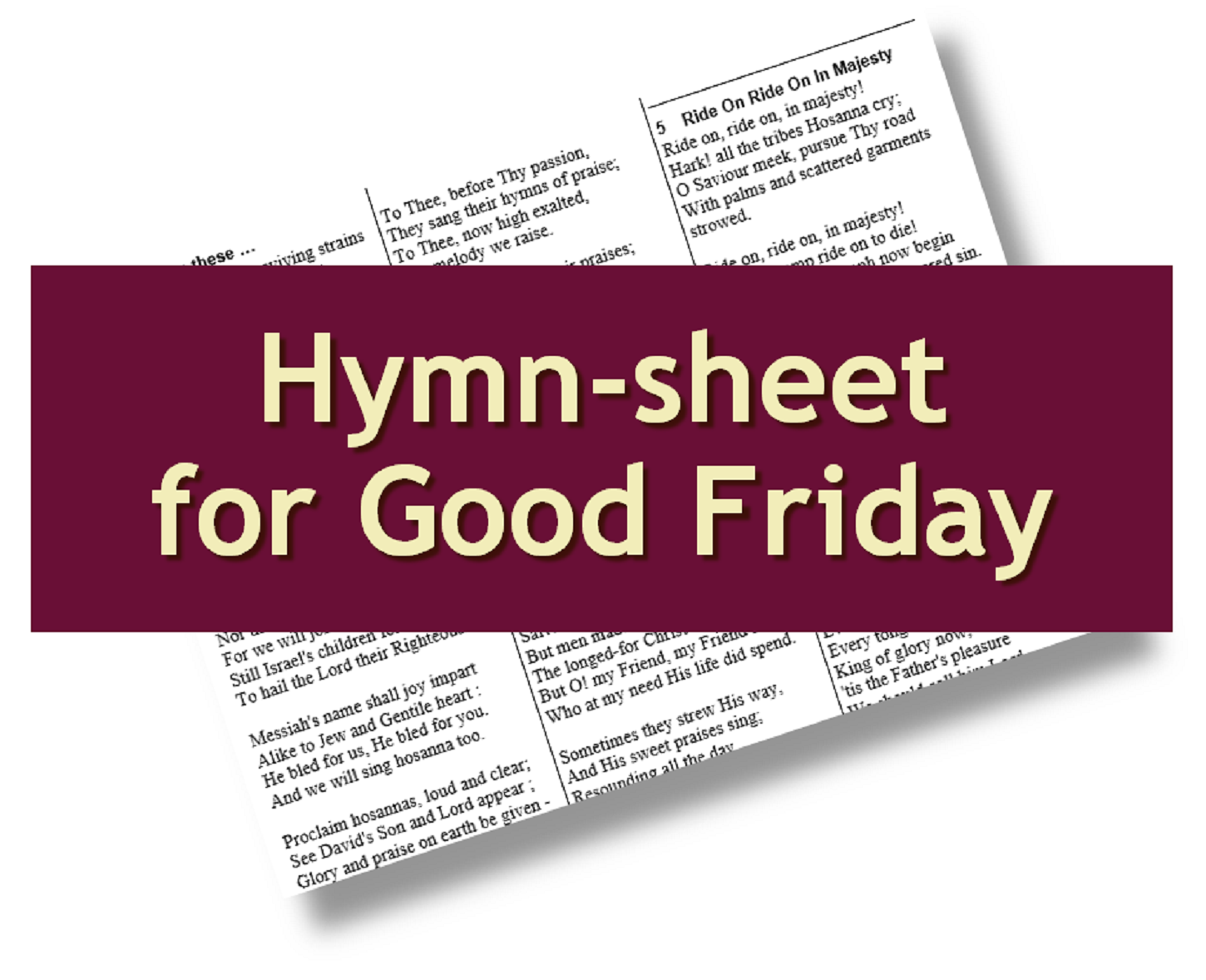 photo relating to Printable Hymns known as : Printable free of charge hymn-sheet for Lent and