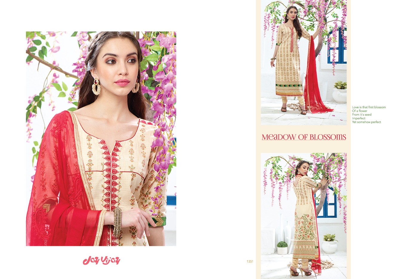 Meadow Of Blossoms – Cotton Printed Salwar Suit