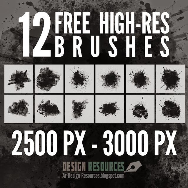 12 Free High-Res Brushes — Photoshop Add-ons