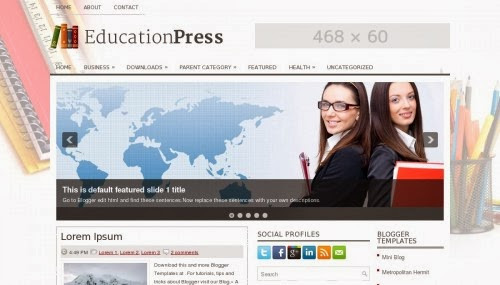 Education blogger template,blogger template free download,free template download