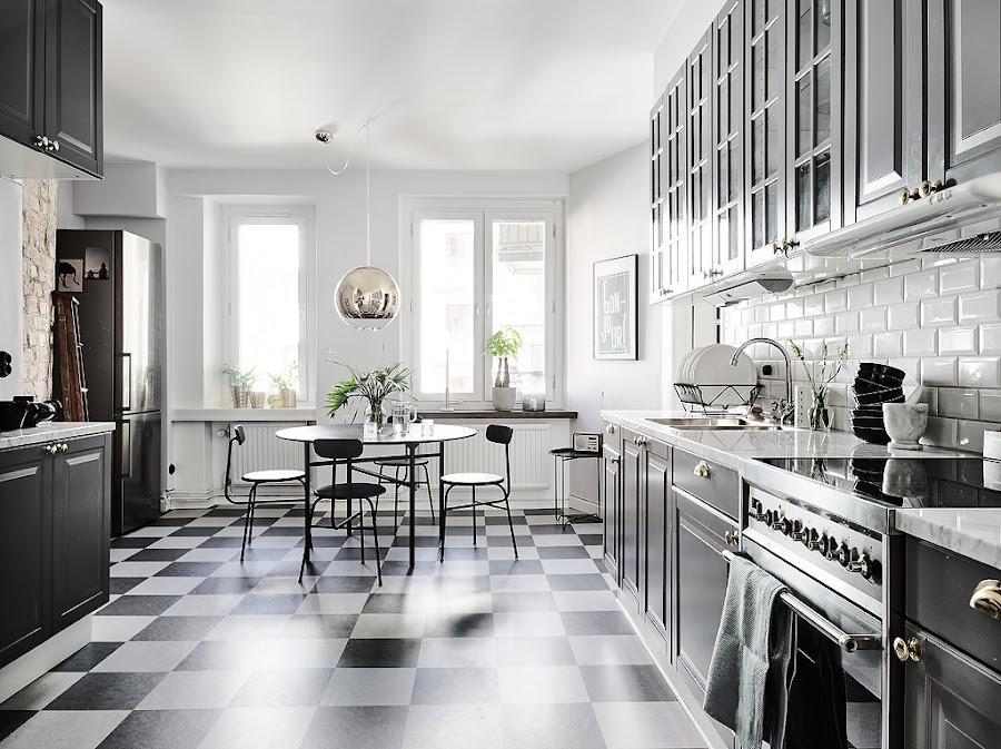 cocina, estilo nordico, ladrillo caravista, nordica, decoración, interiorismo, barcelona, alquimia deco, escandinava, blanco,