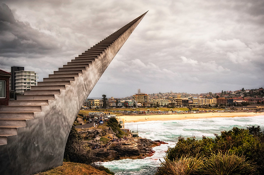 42 Of The Most Beautiful Sculptures In The World - Diminish And Ascend By David Mccracken, Bondi, Australia