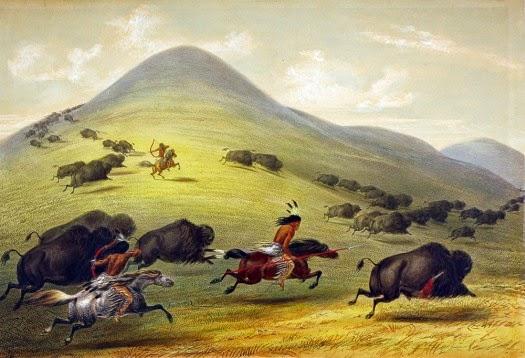 cacería del bisonte