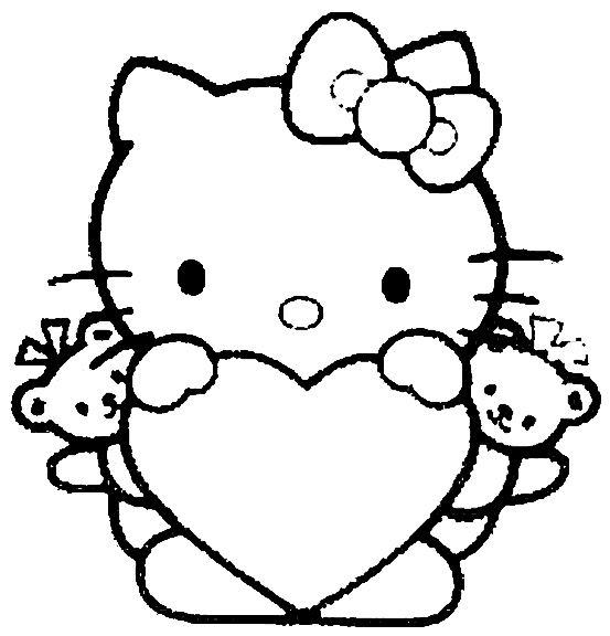Cartoons Coloring Pages Hello Kitty Coloring Pages