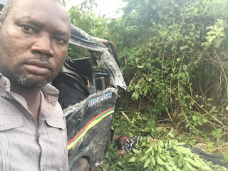 Man takes selfie as he survived Fatal accident
