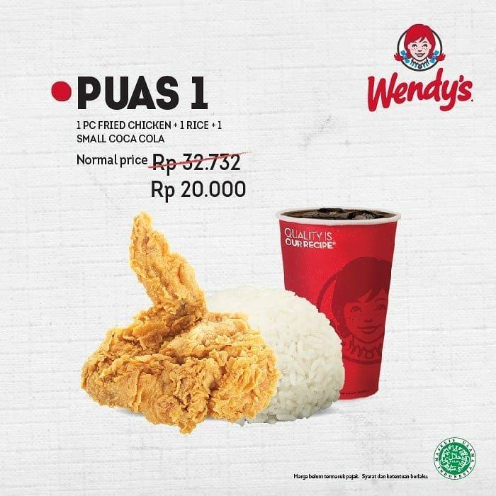 #Wendys - Promo Paket PUAS Hanya 20K Exl PPN (Senin - Jum'at)