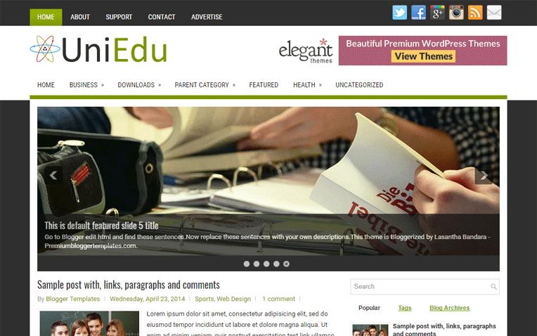 UniEdu Free Blogger Template