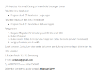 Lowongan Dosen Pendidikan Bahasa Inggris - Unnes Semarang