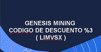 descuento compras genesis mining cupon