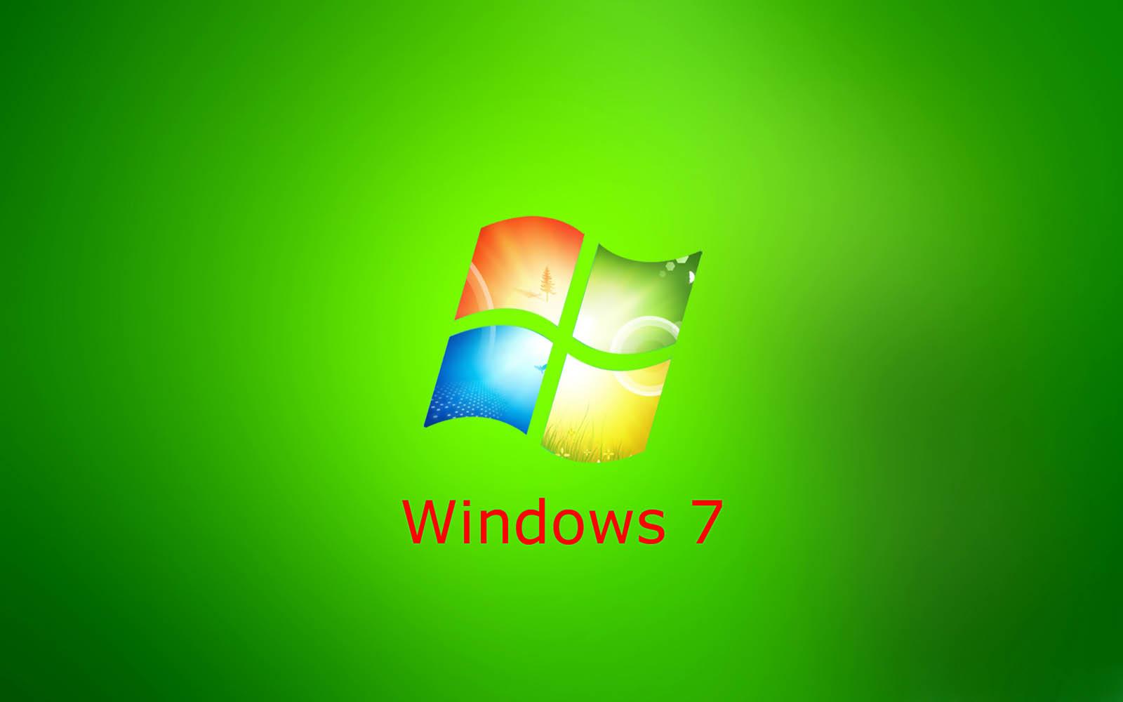 wallpapers: Green Windows 7 Wallpapers