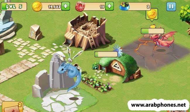لعبة dragon mania مهكرة اخر اصدار للاندرويد