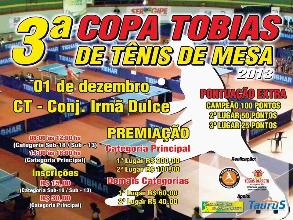e77afdd3e Inscrições da Copa Tobias de Tênis de Mesa encerram nesta quinta