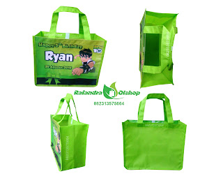 tas ulang tahun,goodie bag, tas souvenir ultah anak, tas ultah murah, tas ultah ben10.