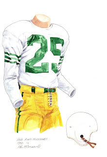 1950 Miami Hurricanes football uniform original art for sale