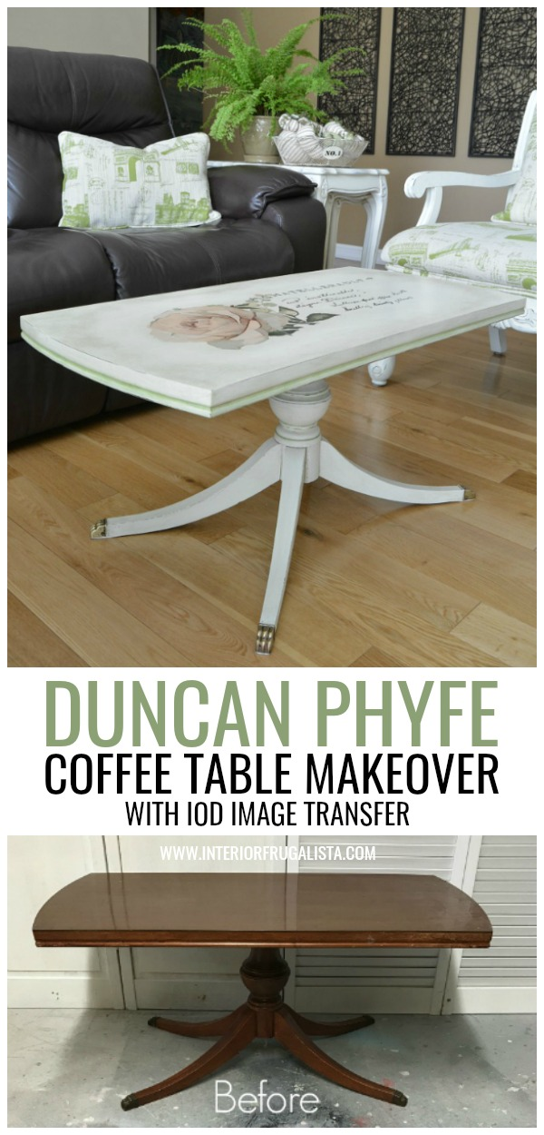 Duncan Phyfe Coffee Table With French Transfer