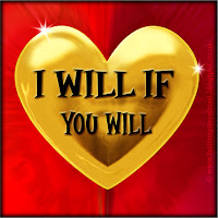 I will if you will text on gold heart free image for texting