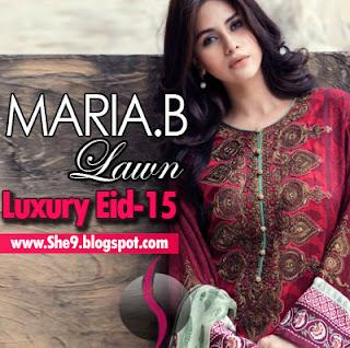 3a1a4d3e8f Maria B Lawn Eid Collection 2015   Maria.B Luxury Designer Lawn Suits