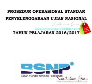 Prosedur Operasional Standar (POS) UASBN 2017 PDF Gratis