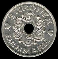 Deense Kroon met gat