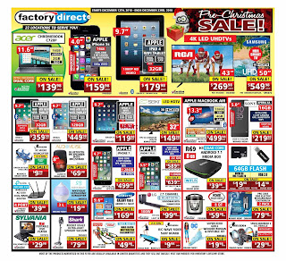 Factory Direct Weekly Flyer Circulaire December 13 - 19, 2018